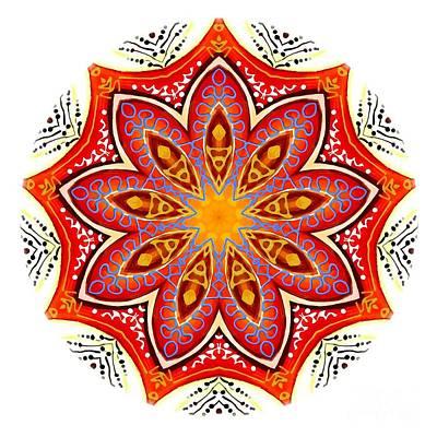 Digital Art - Mandala - Talisman 4251 by Marek Lutek