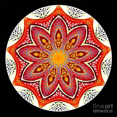 Digital Art - Mandala - Talisman 4252 by Marek Lutek