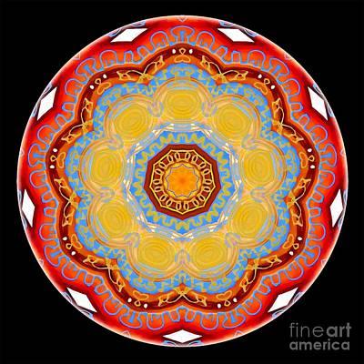 Digital Art - Mandala - Talisman 4254 by Marek Lutek