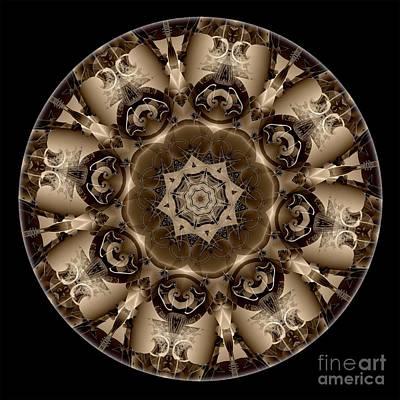 Digital Art - Mandala - Talisman 4307 by Marek Lutek