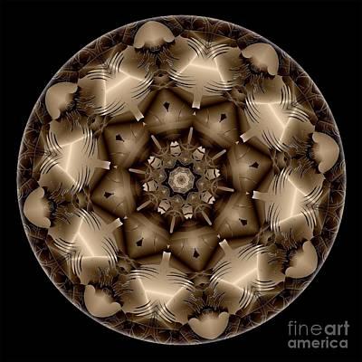 Digital Art - Mandala - Talisman 4309 by Marek Lutek