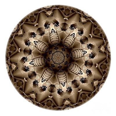 Digital Art - Mandala - Talisman 4318 by Marek Lutek