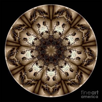 Digital Art - Mandala - Talisman 4323 by Marek Lutek