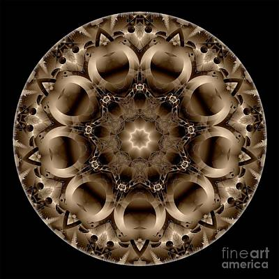 Digital Art - Mandala - Talisman 4327 by Marek Lutek