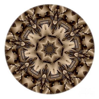 Digital Art - Mandala - Talisman 4334 by Marek Lutek