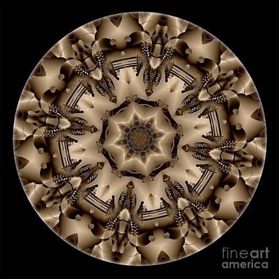 Digital Art - Mandala - Talisman 4335 by Marek Lutek