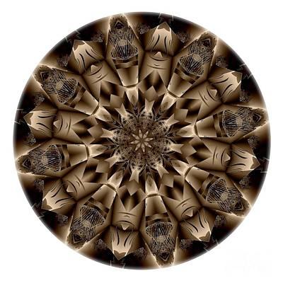 Digital Art - Mandala - Talisman 4338 by Marek Lutek