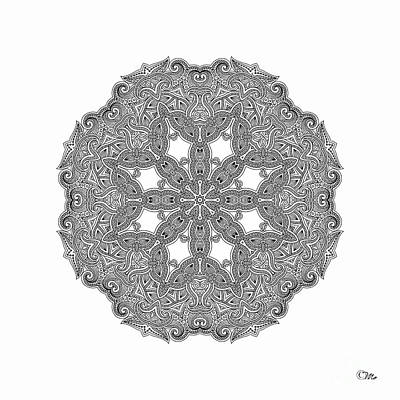 Digital Art - Mandala To Color by Mo T