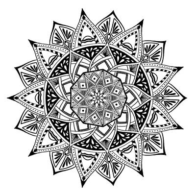 Digital Art - Mandala X 1001 by Lisa Schwaberow