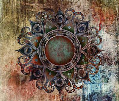 Mint Digital Art - Mandala - Zombie by Marianna Mills