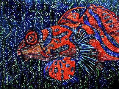 Painting - Dreamtime Mandarin by Cora Marshall