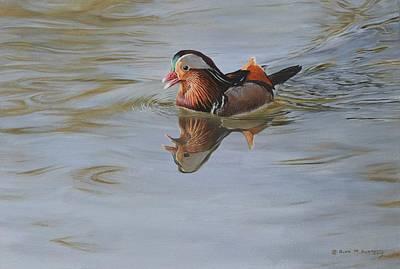 Painting - Mandarin Duck by Alan M Hunt