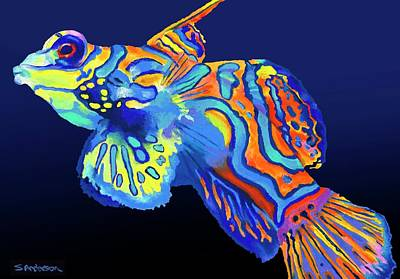 Painting - Mandarin Fish by Stephen Anderson