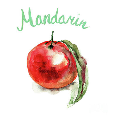 Mandarin Fruits Art Print