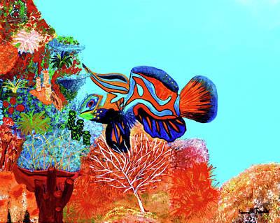 Odd Painting - Mandarin Goby  by Ken Figurski