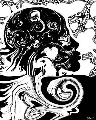 Mandela Effect... Dueling Realities Print by Abstract Angel Artist Stephen K
