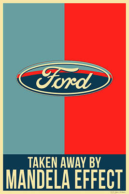 Digital Art - Mandela Effect - Ford Logo by Serge Averbukh