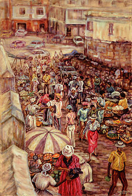 Painting - Mandeville Market by Ewan  McAnuff