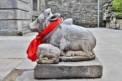 Photograph - Nandi Statue At Yoga Badri Temple - Pandeshwar India by Kim Bemis