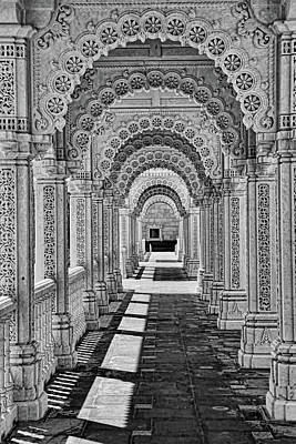 Photograph - Mandir # 5 - B And W by Allen Beatty