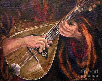 Mandolin Art Print by Deborah Smith