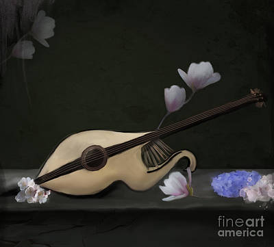 Mandolin Art Print by Ellerslie Art