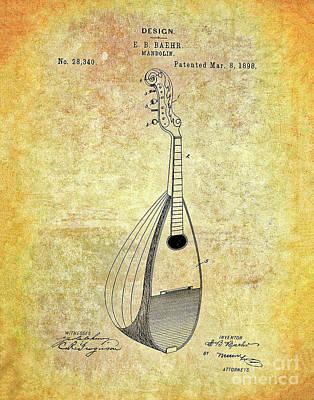 Photograph - Mandolin Patent by Steven Parker