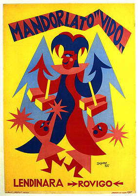 Royalty-Free and Rights-Managed Images - Mandorlato Vido - Lendinara, Rovigo - Italian Futurism - Vintage Travel Poster - Fortunato Depero by Studio Grafiikka