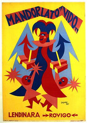 Mixed Media - Mandorlato Vido - Lendinara, Rovigo - Italian Futurism - Vintage Travel Poster - Fortunato Depero by Studio Grafiikka