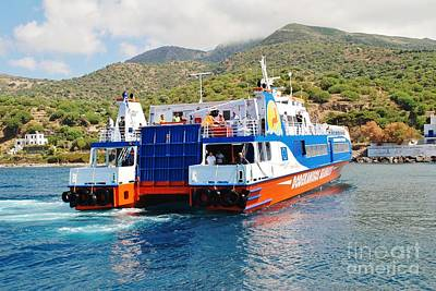 Mandraki Harbour In Nisyros Print by David Fowler
