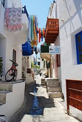 Mandraki Town On Nisyros Print by David Fowler