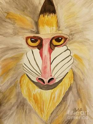 Painting - Mandrill Monkey by Maria Urso
