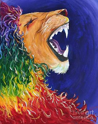 Justice Painting - Mane Attraction by Madelaine Kobe