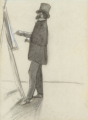 Drawing - Manet And His Easel by Frederic Bazille