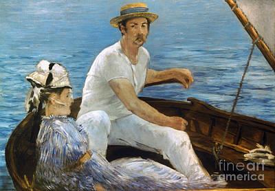 Manet: On A Boat, 1874 Art Print by Granger