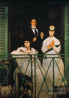 Manet Photograph - Manet: The Balcony, 1869 by Granger