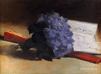 Impressionist Photograph - Manet: Violets, 1872 by Granger