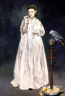 Manet Photograph - Manet: Woman & Parrot by Granger