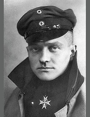 Photograph - Manfred Albrecht Freiherr Von Richthofen With His Blue Max Medal C. 1917 by David Lee Guss