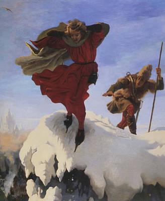 Manfred On The Jungfrau Art Print