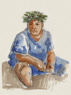 Painting - Mangaia Mama by Judith Kunzle