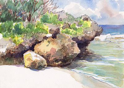Painting - Mangaia West Coast by Judith Kunzle