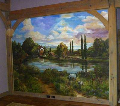 Painting - Manger Farm by Denise Ivey Telep