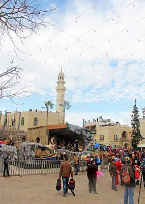 Photograph - Manger Square Crowd by Munir Alawi