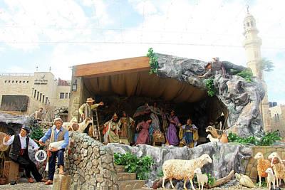 Photograph - Manger Square Nativity by Munir Alawi