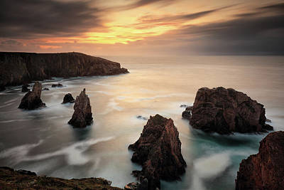 Photograph - Mangersta Sea Stacks by Grant Glendinning