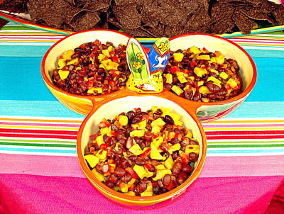 Photograph - Mango And Black Bean Salsa by Robert Meyers-Lussier