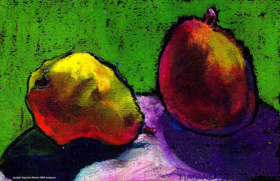 Mango And Pear Art Print by Angelina Marino