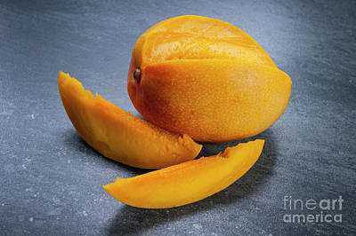 Ripe Photograph - Mango And Slices by Elena Elisseeva