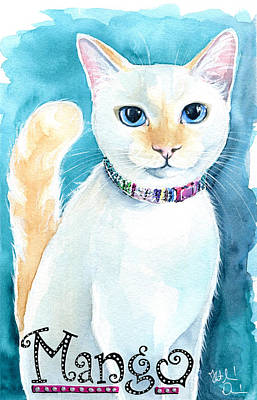 Mango - Flame Point Siamese Cat Painting Art Print
